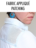 How to patch an old shirt using fabric