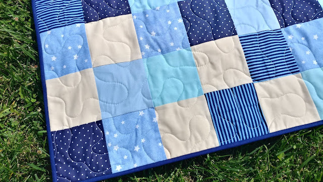Patchwork quilt from Bear Can't Sleep book