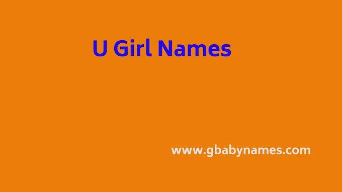 U Girl Names