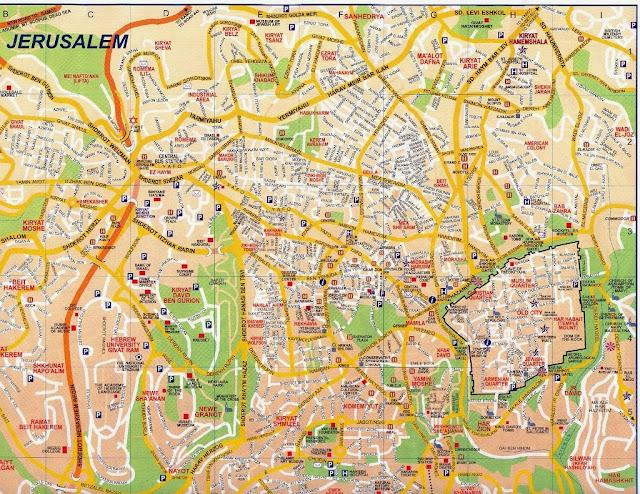 Mapa da cidade de Jerusalém