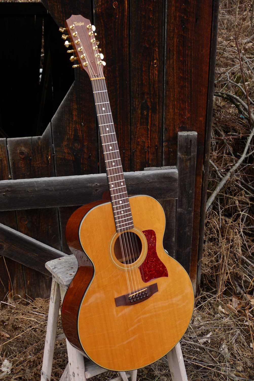 1984 taylor 555 12 string jumbo flattop guitar. Black Bedroom Furniture Sets. Home Design Ideas