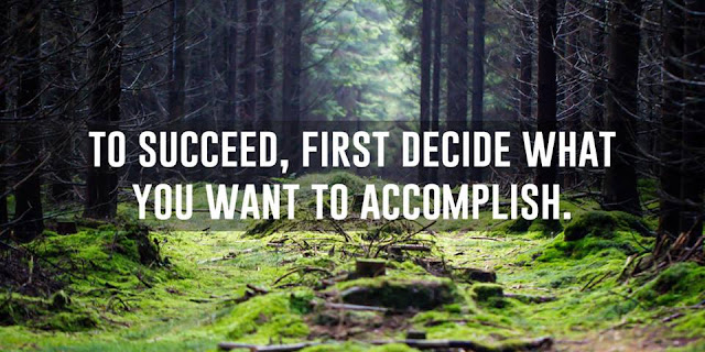 To succeed, first decide what you want to accomplish