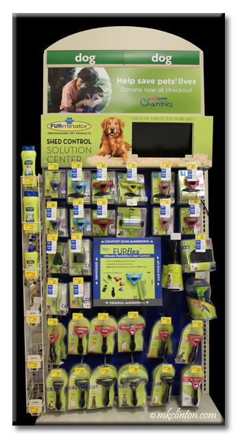 FURminator® end cap at PetSmart