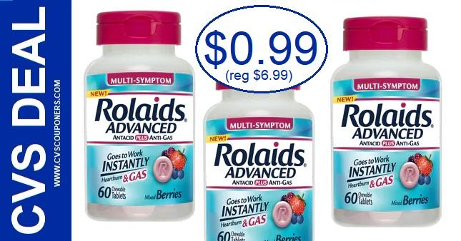 Rolaids Antacid Chewables $0.99 at CVS 12-29-1-4