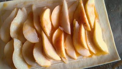 Apple Puff Pastry dessert before