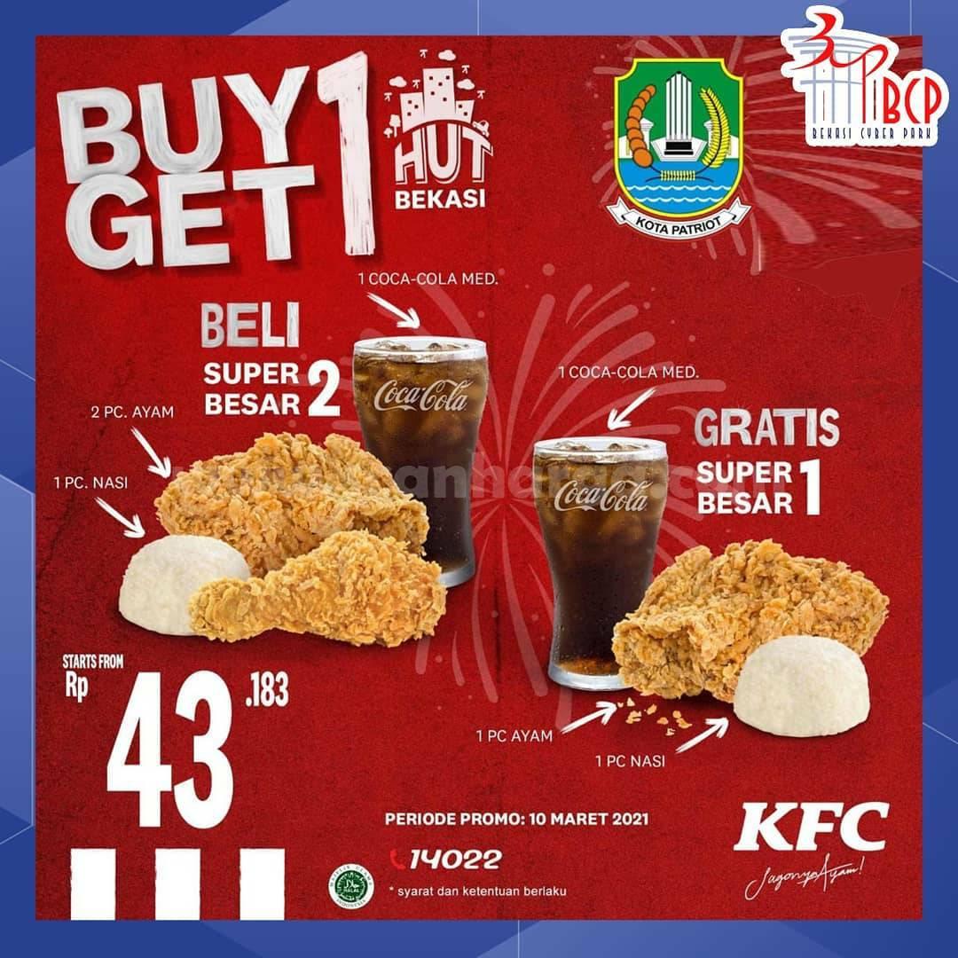 KFC Promo HUT BEKASI! BELI 1 GRATIS 1