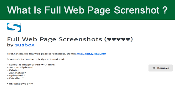 How To Install Take Webpage Screenshots Entirely - FireShot Add Ons Extension - Mozila Firefox Extension
