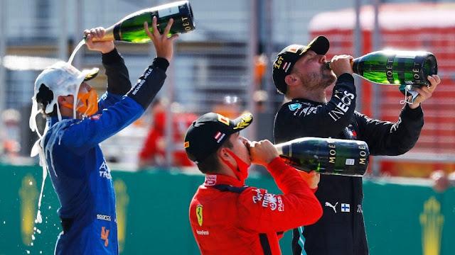 podium f1 austria 2020