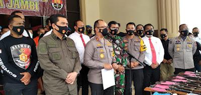 Polda Jambi Meringkus Empat Pelaku Penembak Warga Desa Semerap Kerinci