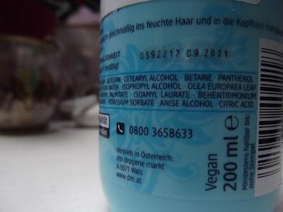 Tajomstvo krásy hydratačné mlieko na vlasy ingredients