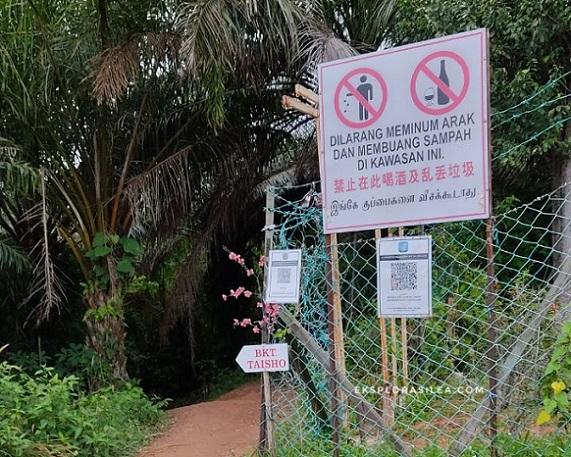 Hiking di Bukit Taisho Bahau Negeri Sembilan