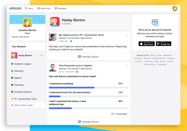 Edmodo App For Students Learning Teacher