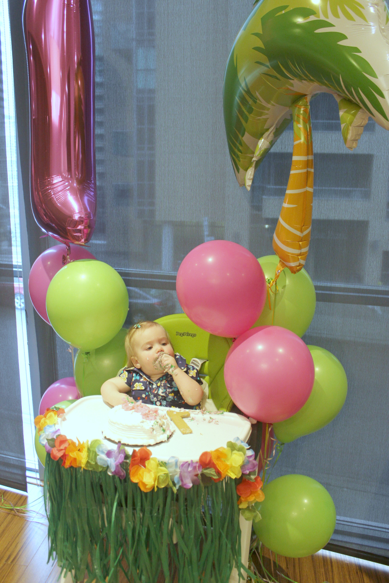 Hawaiian Luau Themed First Birthday Party