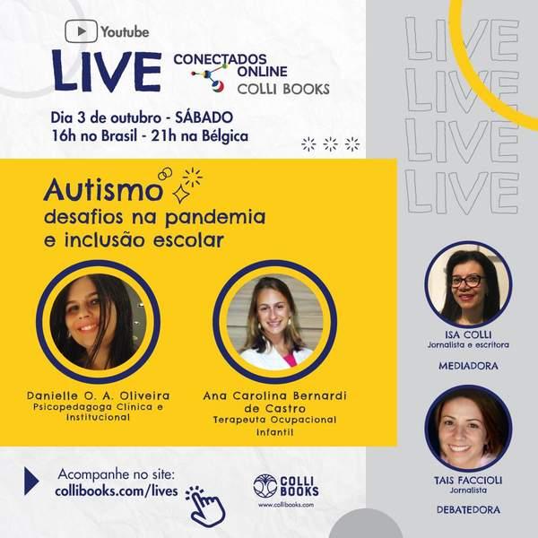 Editora Colli Books promove live sobre 'Autismo, desafios na pandemia e inclusão escolar'
