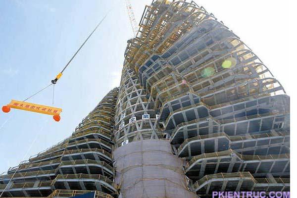 Kết cấu tháp Tao Zhu Yin Yuan