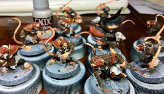 Skaven Scramblers Speed Painting Blood Bowl 28mm Rats Fantasy Football Miniatures SquadPainter Vallejo Game Color basecoating