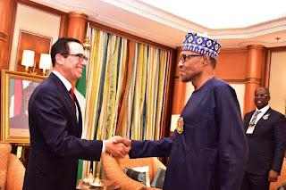 Buhari Meets US Treasury Secretary In Saudi Arabia (Photo)