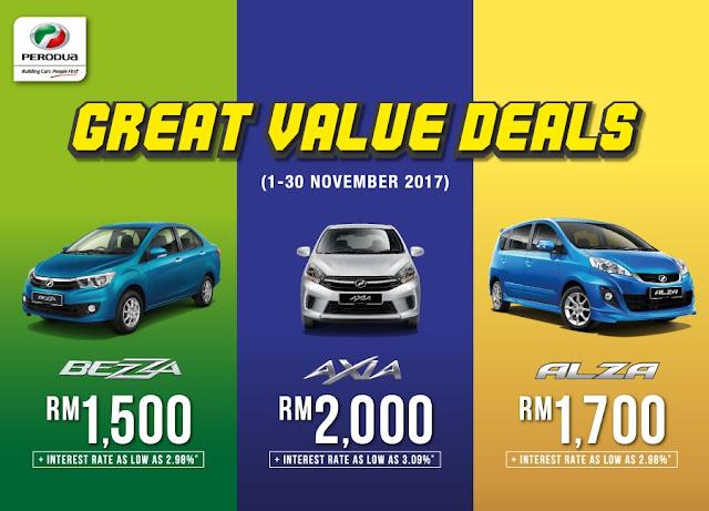 Promosi Perodua Bulan November 2017 - Promosi Perodua Akhir Tahun 2017