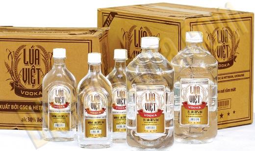 Thùng rượu vodka Lúa Việt