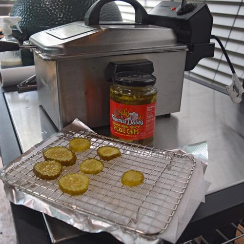 How I deep fry pickles