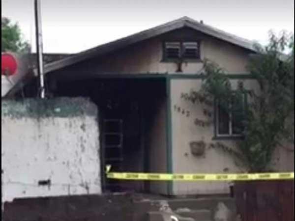 Prenden fuego a casa tras balear de muerte a madre e hijas