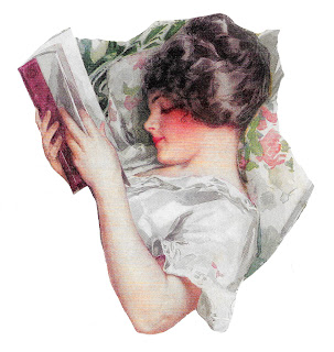 harrison fisher illustration image woman reading book