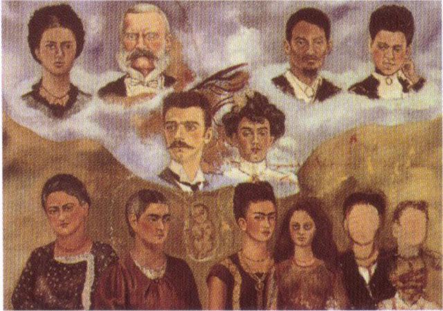 Фрида Кало - Портрет семьи Фриды. 1950-1954