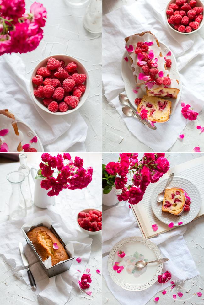 ciasto jogurtowo-różane z malinami ucierane