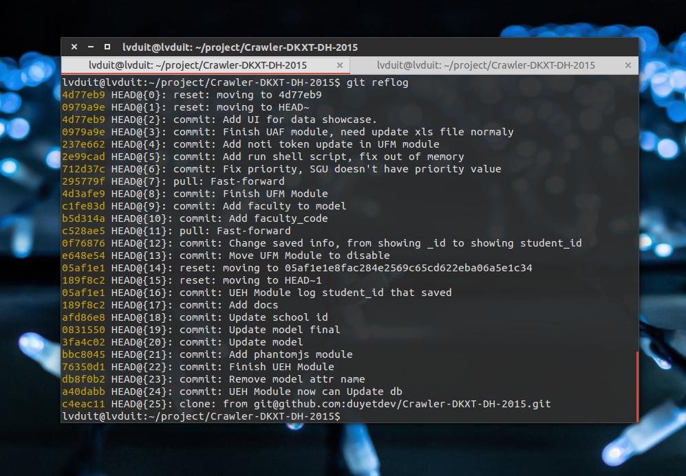 Git - Khôi phục bằng reflog sau khi lỡ tay xóa commit hoặc branch.