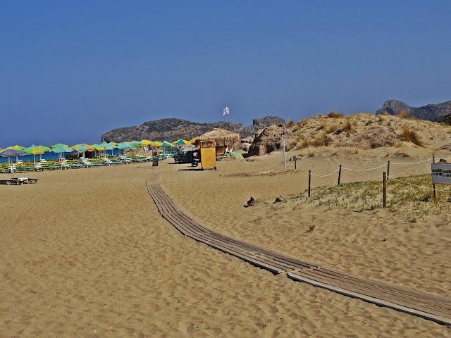 Falassarna piaszczysta plaża na Krecie
