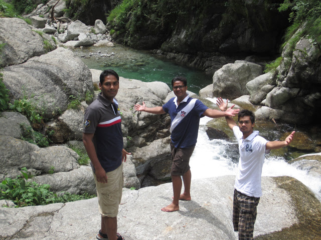 in himalyan waterfall