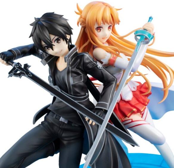 """""""Sword Art Online"""" Kirito dan Asuna 10th Anniversary Figure"""