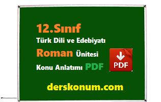 12.Sınıf Edebiyat Roman Ünitesi Konu Anlatımı PDF