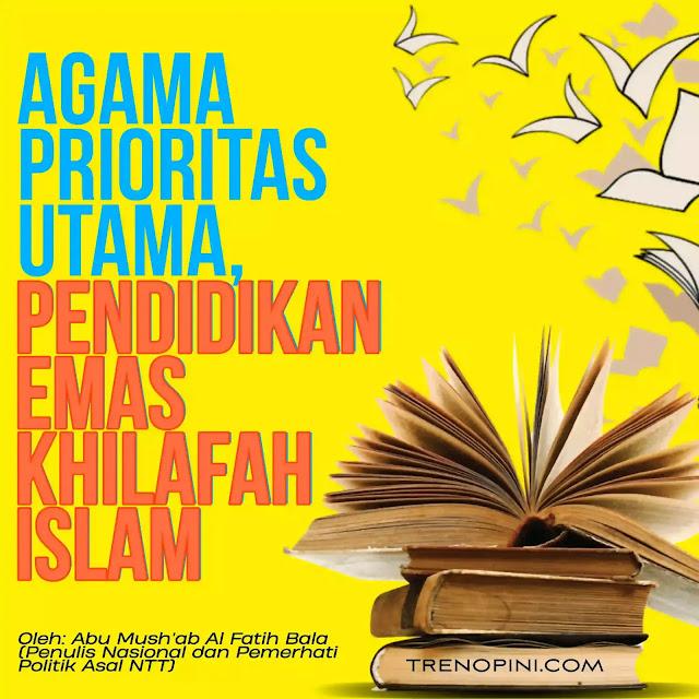 Sejarah Pendidikan Islam yang menjadikan Agama sebagai landasan ideologisnya dimulai ketika Rasulullah SAW melakukan terobosan di dunia pendidikan. Tawanan perang yang mau bebas dari Kaum Muslimin jika tak sanggup membayar tebusan harus mengajari anak-anak Muslim baca, tulis dan berhitung.