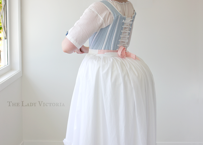 petticoat and bumroll back veiw