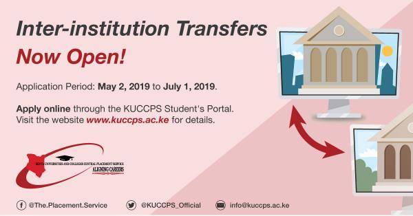 KUCCPS 2019 university transfers