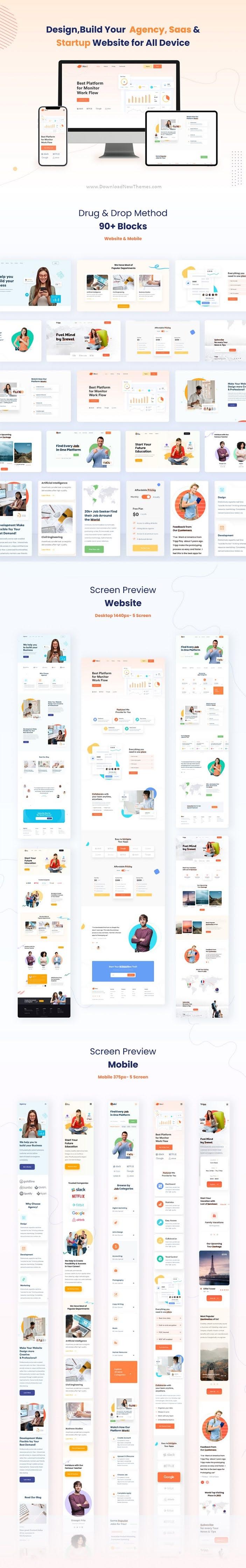 Landing Page Templates & UI Kit XD Template