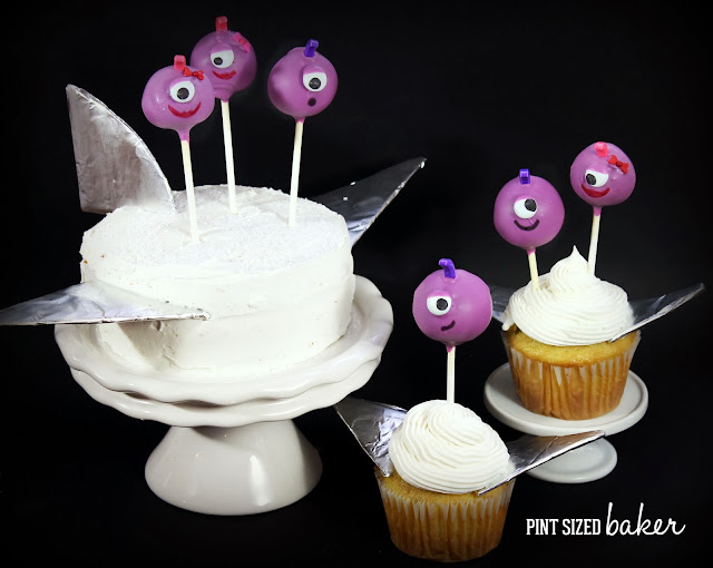 These cake pops look just likeFlying Purple People Eaters Cake Pops! They're fun to make and even more fun to eat!