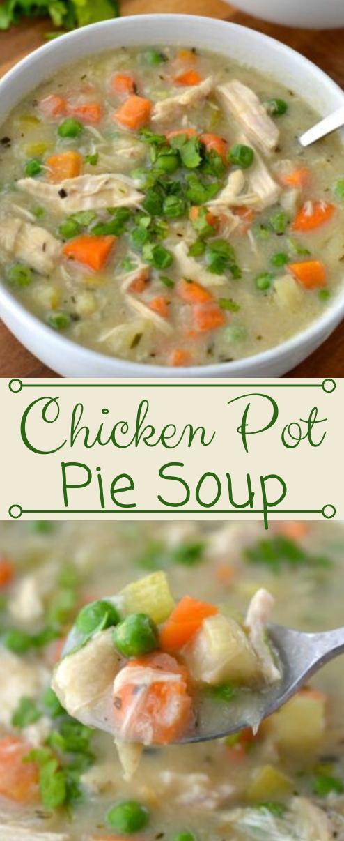 Chicken Pot Pie Soup #healthy #diet #soup #easy #chicken