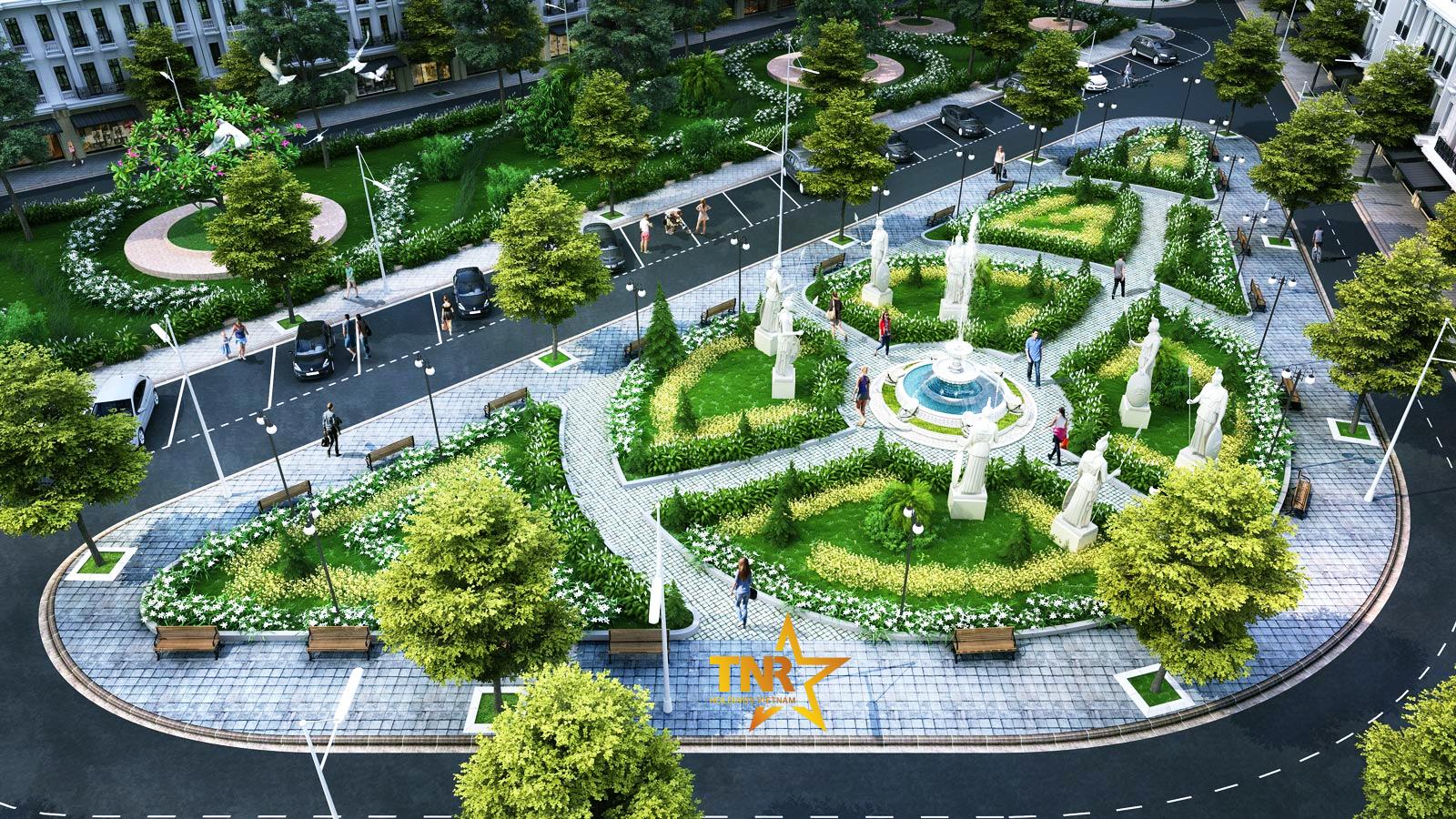 Quảng trường trung tâm khu đô thị Hải Dương