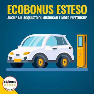 Esteso l'ecobonus per la mobilità sostenibile - m5stelle.com - notizie m5s