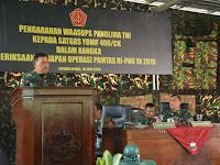 Waasops Panglima TNI Cek Kesiapan Akhir Satgas Yonif 406/Ck Pamtas RI-PNG