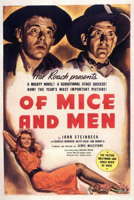 the characters of george and lennie in the novel of mice and men by john steinbeck