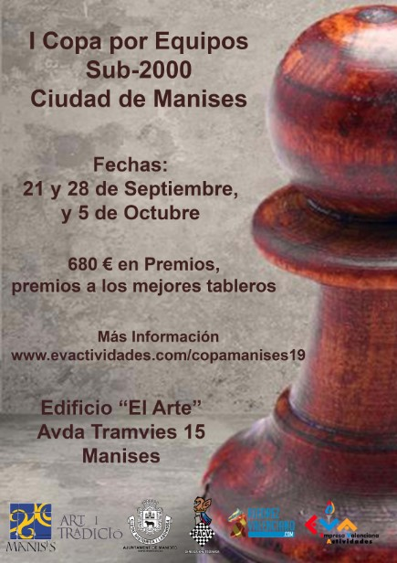 21-28 septiembre y 5 octubre. I Copa por equipos Sub-2000 Ciudad de Manises (Nota, cambio horario el día 28)