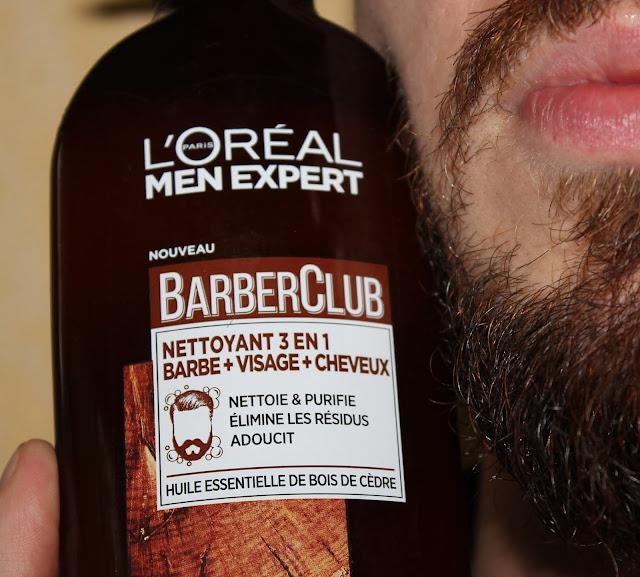 Nettoyant 3 en 1 Barbe + Visage + Cheveux BarberClub - L'Oréal Men Expert