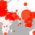 خريطة انتشار فيروس كورونا حول العالم 2020