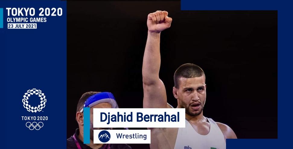 المصارع جهاد برحال يتأهل إلى الألعاب الأولمبية