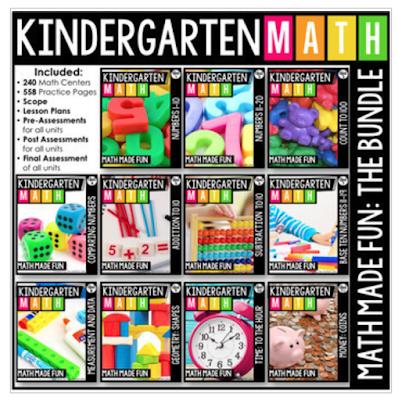 Kindergarten Math Made Fun Bundle The Moffatt Girls