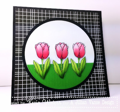 A Jillian Vance Design, Kecia Waters, Becky Schultea, Copic markers, tulips