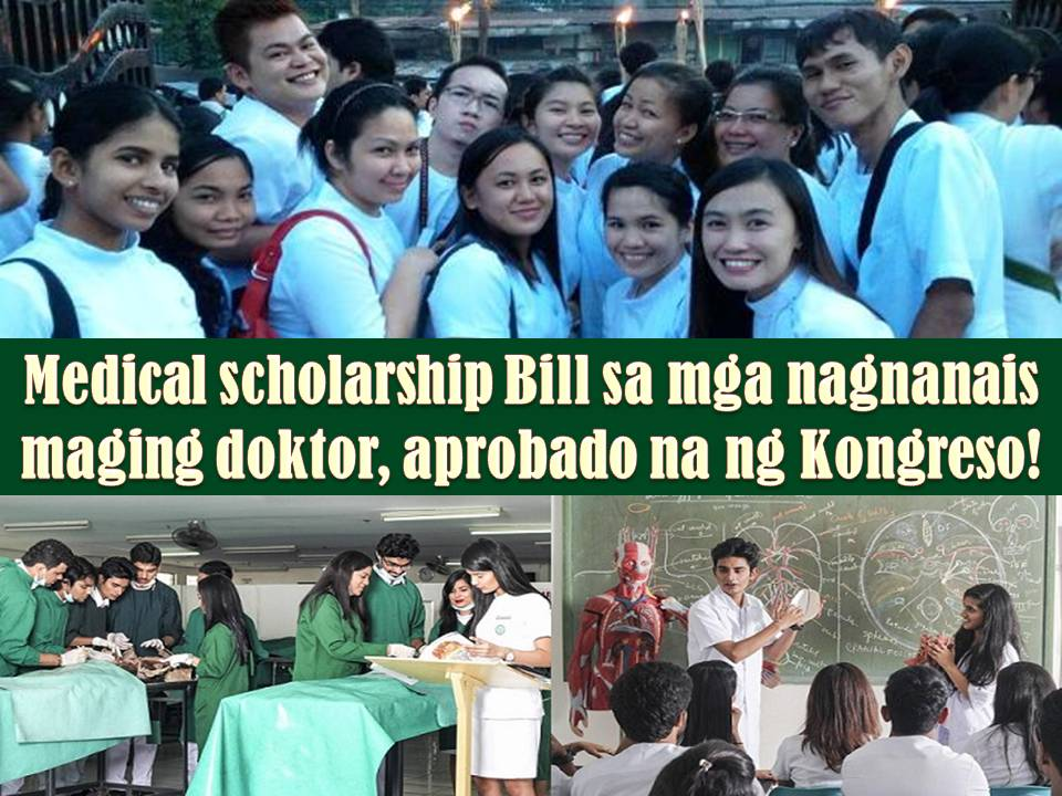 Last November 20, the House of Representatives unanimously approved on third and final reading a bill that mandates a medical scholarship program.  The measure main goal is to address the shortage of doctors in the Philippines.  House Bill 6571 or the Medical Scholarship and Return Service Program Act passed in the Congress with 223 affirmative votes. No negative votes nor abstentions.
